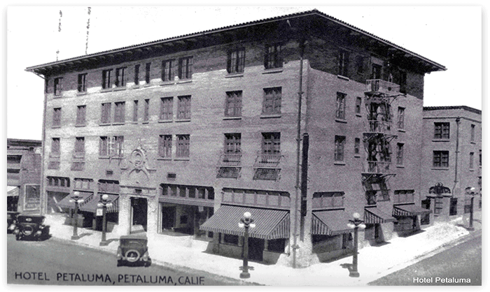 Due to the Great Depression, Hotel Petaluma was converted to a residential hotel