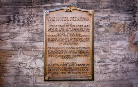 Hotel Petaluma - Hotel Petaluma History Stone Plate